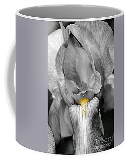 Coffee Mug featuring the photograph Iris - Bw by Larry Carr
