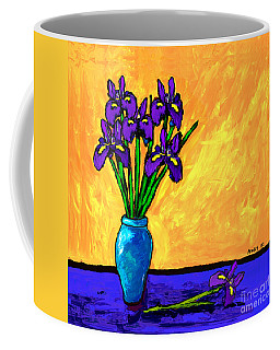 Iris On Yellow Coffee Mug