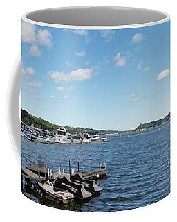 Coffee Mug featuring the photograph Irondequoit Bay Panorama by William Norton