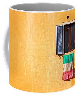 Italian Flag Window And Yellow Wall Coffee Mug