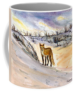 Coffee Mug featuring the painting Jersey Shore Fox by Clara Sue Beym