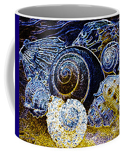 Abstract Seashell Art Coffee Mug by Carol F Austin