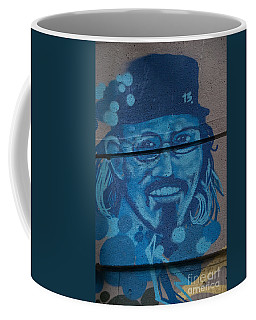Coffee Mug featuring the digital art Johnny On The Wall by Carol Ailles