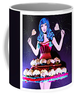 Coffee Mug featuring the photograph Lady In Flowers by Alice Gipson
