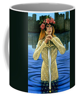 Coffee Mug featuring the painting Lady Of The Lake by Sue Halstenberg