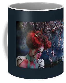 Lady Spring Silence Coffee Mug by Rosa Cobos