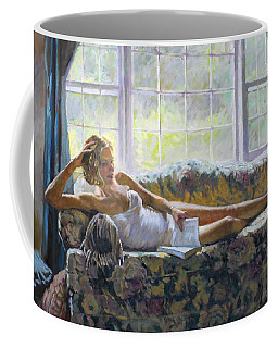 Lady With A Book Coffee Mug