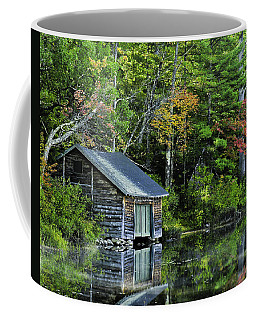 Coffee Mug featuring the photograph Lake Chocoura Boathouse by Betty Denise