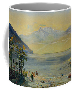 Lake Leman With The Dents Du Midi In The Distance Coffee Mug
