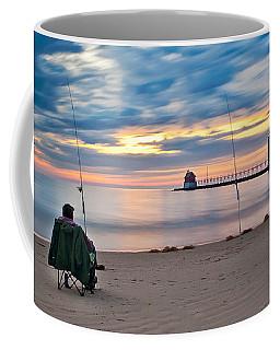 Lake Michigan Fishing Coffee Mug