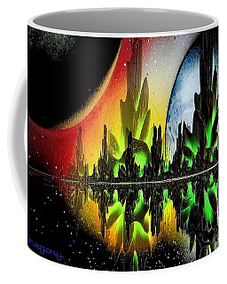 Coffee Mug featuring the mixed media Lake Venus by Greg Moores