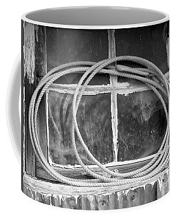 Coffee Mug featuring the photograph Lasso In The Window  by Deniece Platt