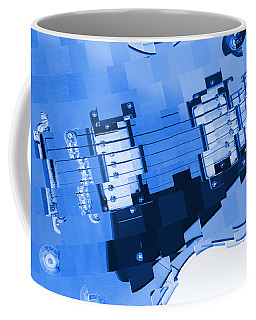 Abstract Guitar In Blue 2 Coffee Mug