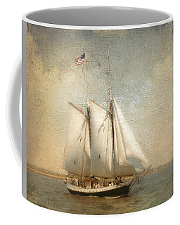 Liberty Clipper On Boston Harbor Coffee Mug