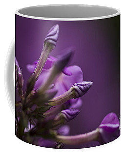 Coffee Mug featuring the photograph Lilac Spirals. by Clare Bambers