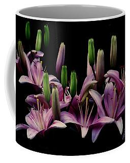 Lilies At Midnight Coffee Mug by John Selmer Sr