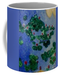 Coffee Mug featuring the painting Lily Pond by Sonali Gangane