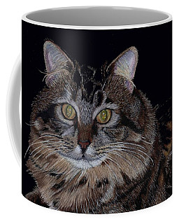 Little Girl - Maine Coon Cat Painting Coffee Mug