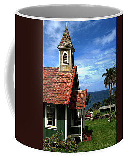 Little Green Church In Hawaii Coffee Mug