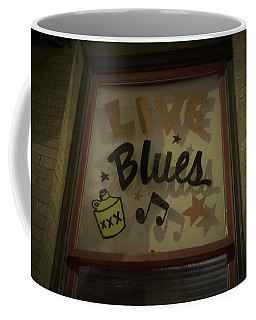 Live Blues Coffee Mug by Tom Bush IV