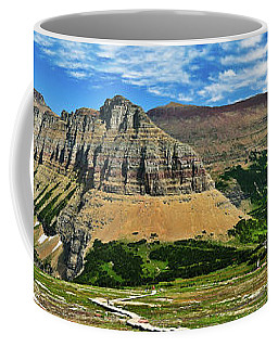 Coffee Mug featuring the photograph Logan Pass Panorama by Greg Norrell