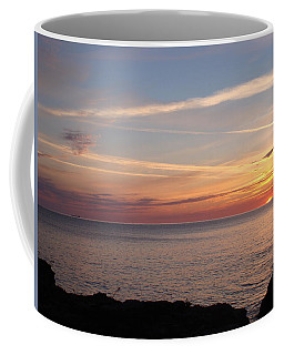 Coffee Mug featuring the photograph Lone Freighter On Up by Bonfire Photography