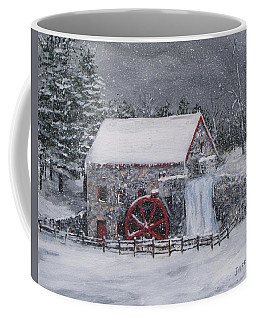 Longfellow's Grist Mill In Winter Coffee Mug
