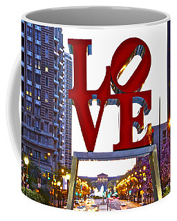 Coffee Mug featuring the photograph Love In Philadelphia by Alice Gipson