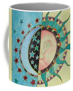 Coffee Mug featuring the painting Love You Day And Night by Anna Ruzsan