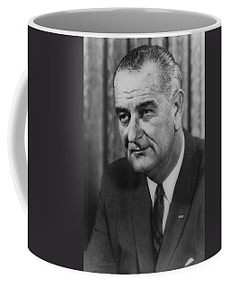Coffee Mug featuring the photograph Lyndon B Johnson by International  Images