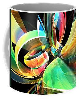 Coffee Mug featuring the digital art Magic Rings by Phil Perkins