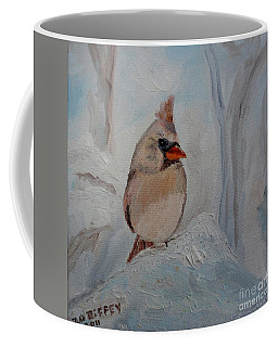 Coffee Mug featuring the painting Mama's On Her Way Home by Julie Brugh Riffey