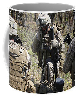Marines Communicate With Other Elements Coffee Mug