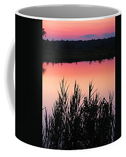 Coffee Mug featuring the photograph Marsh Sunset by Clara Sue Beym