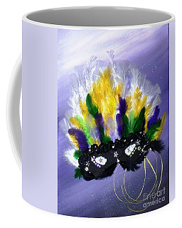 Coffee Mug featuring the painting Masque Over Bourbon Street by Alys Caviness-Gober
