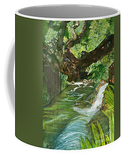 Coffee Mug featuring the painting Maya Ubud Tree Bali Indonesia by Melly Terpening