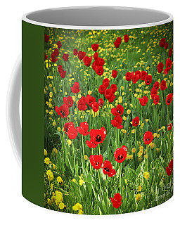 Meadow With Tulips Coffee Mug