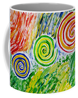 Coffee Mug featuring the painting Meditation by Sonali Gangane