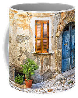 Mediterranean Door Window And Vase Coffee Mug