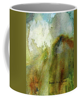 Coffee Mug featuring the painting Melting Mountain by Anna Ruzsan