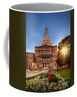 Michigan Capitol - Hdr - 2 Coffee Mug by Larry Carr