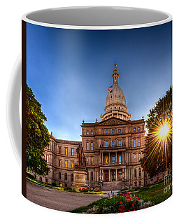 Michigan Capitol - Hdr-1 Coffee Mug by Larry Carr