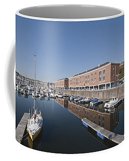 Coffee Mug featuring the photograph Milford Haven Marina 2 by Steve Purnell