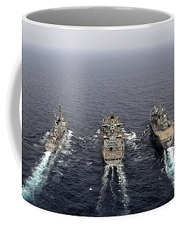 Military Ships Conduct An Underway Coffee Mug