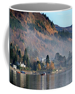 Coffee Mug featuring the photograph Misty Autumn Morning by Lynn Bolt