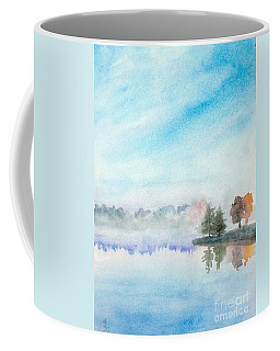 Misty Lake Coffee Mug by Yoshiko Mishina