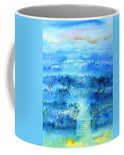 Coffee Mug featuring the painting Misty Morning  Ireland  by Trudi Doyle
