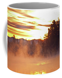 Coffee Mug featuring the photograph Misty Sunrise by Tikvah's Hope