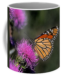 Coffee Mug featuring the photograph Monarch On Thistle 13f by Gerry Gantt