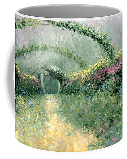 Coffee Mug featuring the painting Monet's Trellis IIi by Lynn Buettner